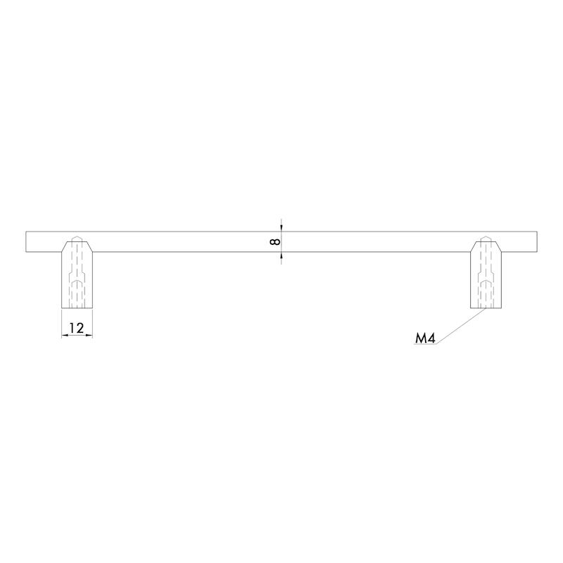 Design-Stangengriff rund  MG-A 8 - 4