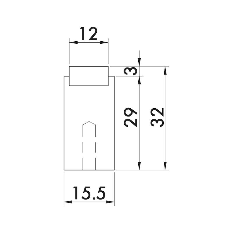 Möbelknopf T-Form MK-A 1 - 3