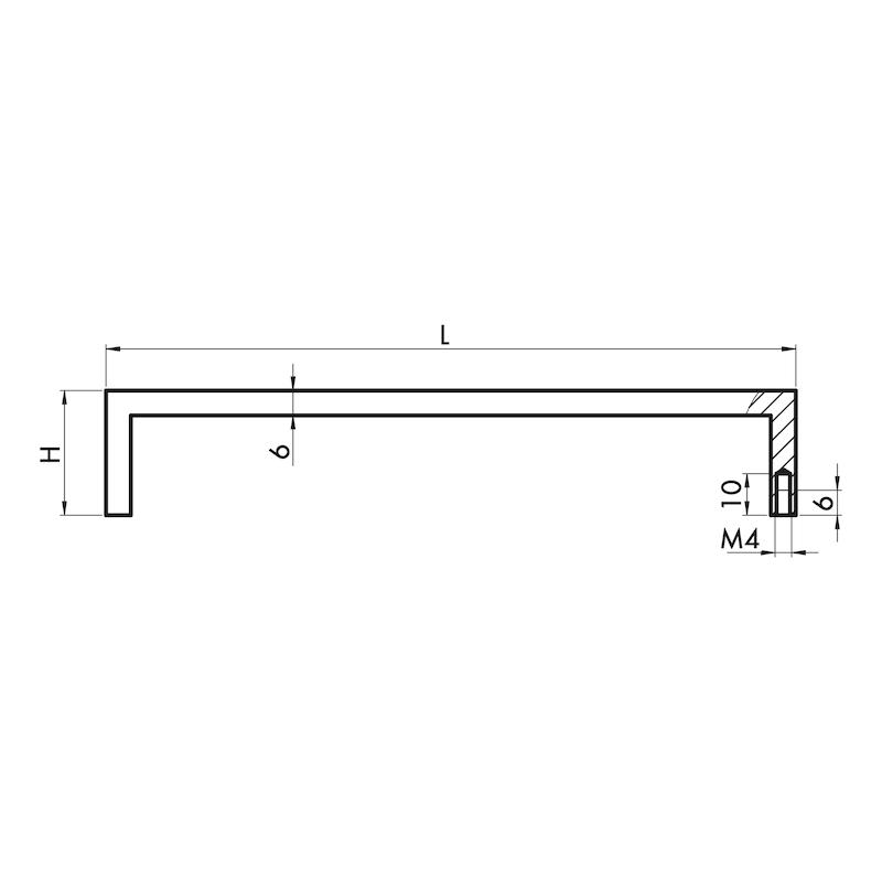 Design-Möbelgriff Bügelform MG-A 10 - 3