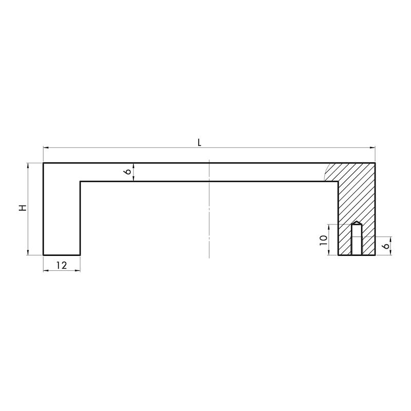 Design-Möbelgriff Bügelform MG-A 11 - 3