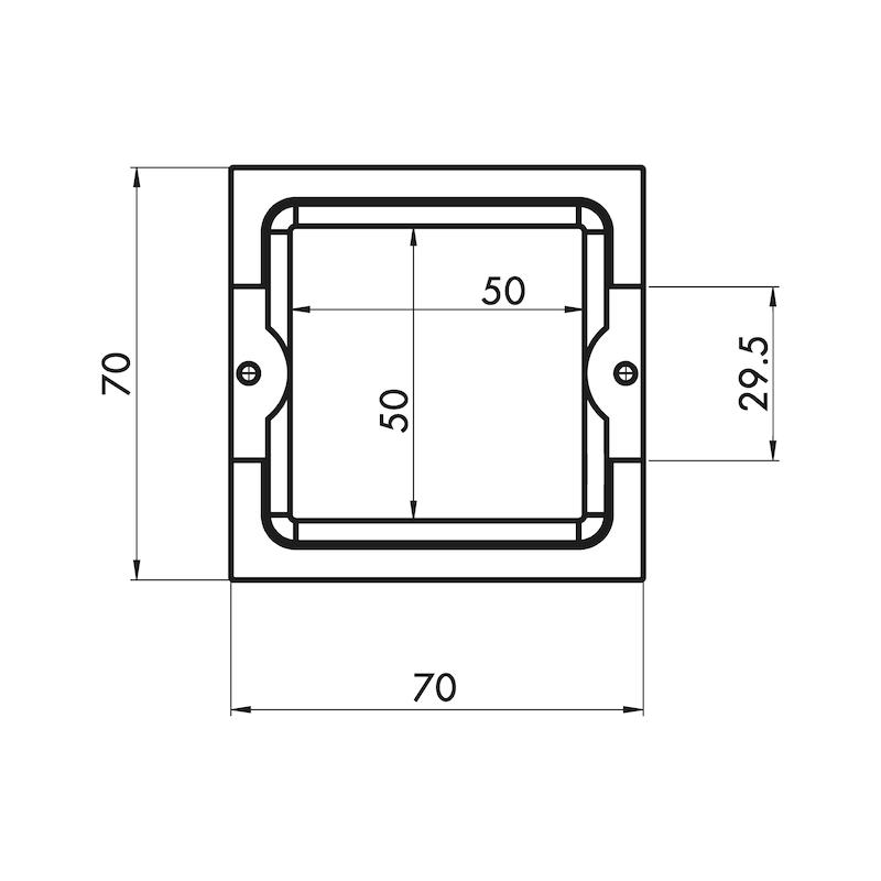 Möbelknopf quadratisch MK-ZD 3 - 4