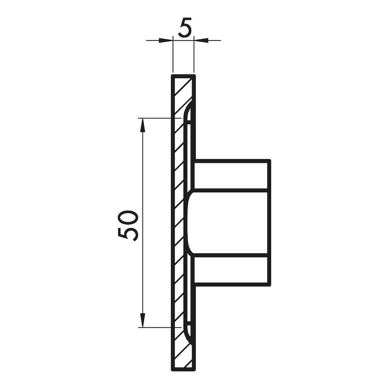 Möbelknopf quadratisch MK-ZD 3 - 3