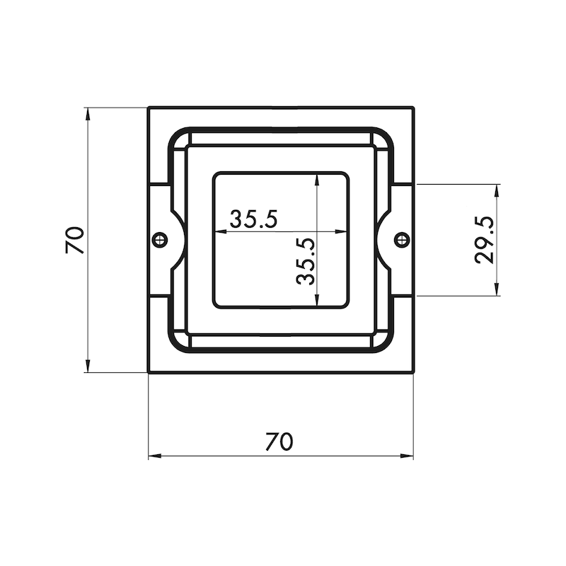 Möbelknopf quadratisch MK-ZD 4 - 4