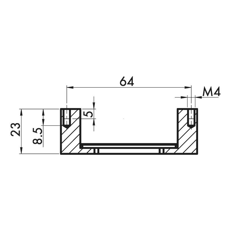 Möbelknopf quadratisch MK-ZD 4 - 2
