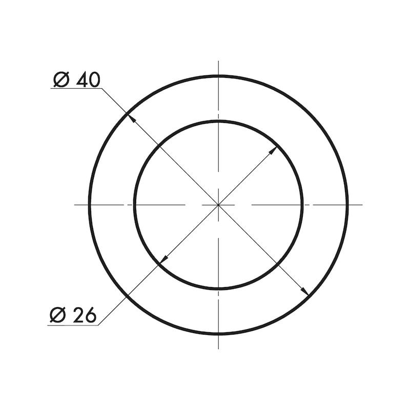 Muschelgriff rund MUG-A  1 - 9