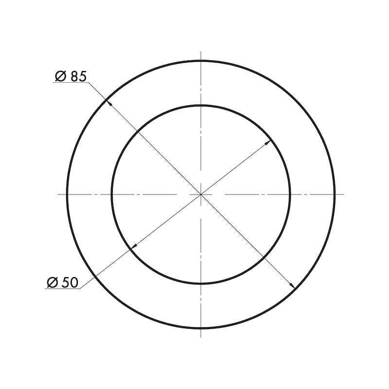 Muschelgriff rund MUG-A  1 - 3