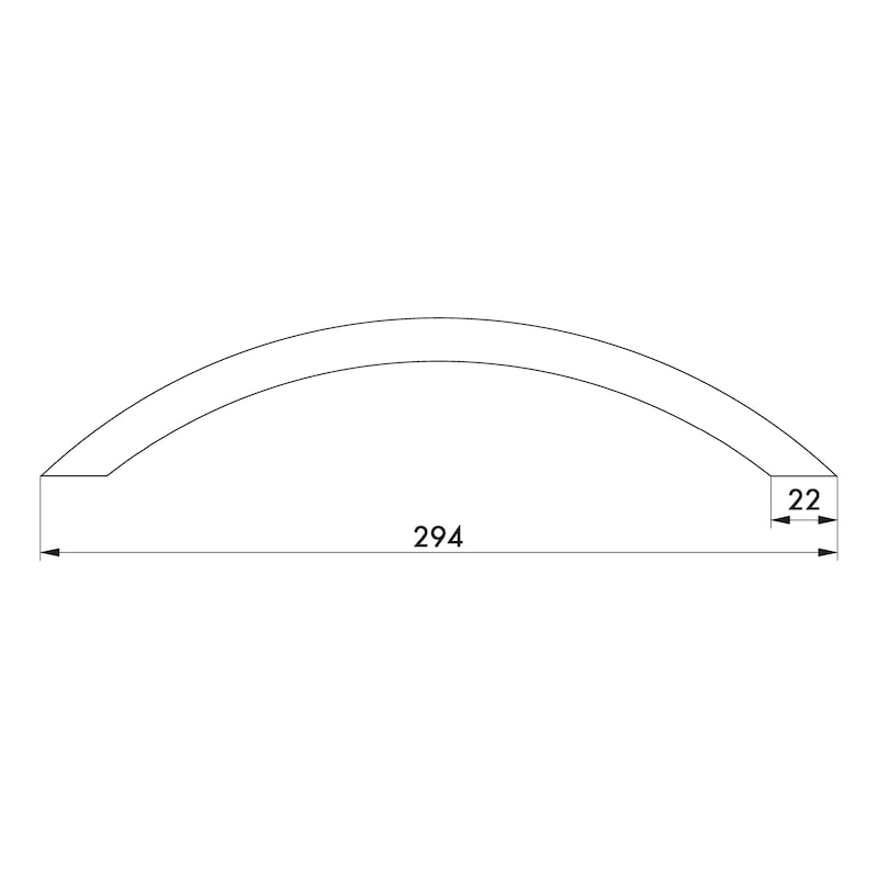 Design-Möbelgriff Segmentbogenform, MG-ZD 5 - 4