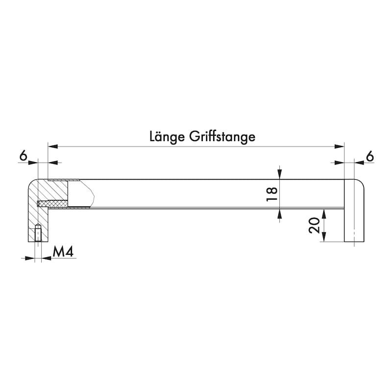 Design-Möbelgriff Bügelform MG-ZDAL 4 - GRF-BGLF-MG-ZDAL4-CHR-POL-SCHWARZ-160MM