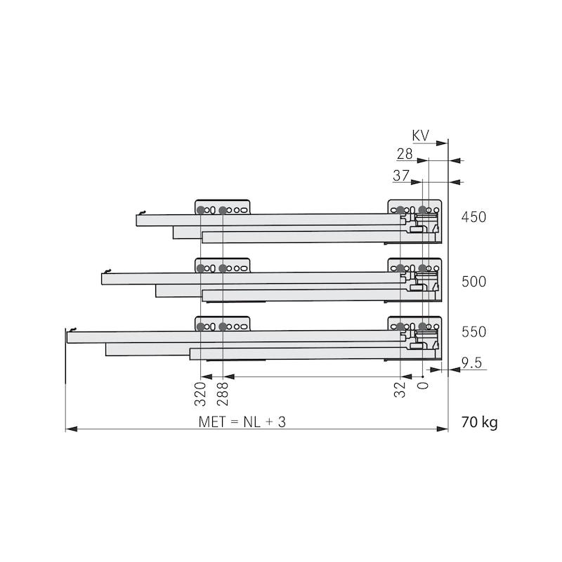 Zarge Nova Pro Scala H63 - ZARGSYS-NP-SCALA-SILVER-H63-NL550