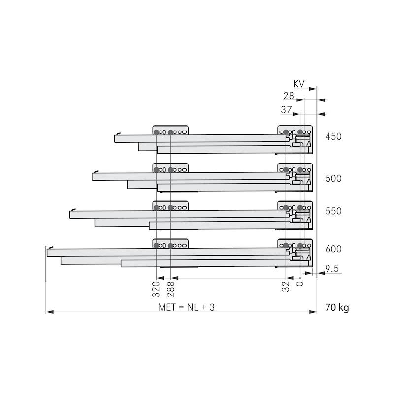 Zargen-Set Nova Pro Scala H122 - 6