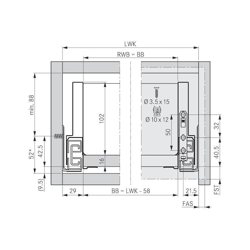 Zargen-Set Nova Pro Scala H122 - 2