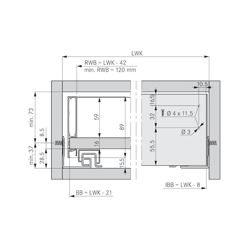 Innenblende für Zargensystem Vionaro - ZB-FRONTBLND-VION-WEISS-H89