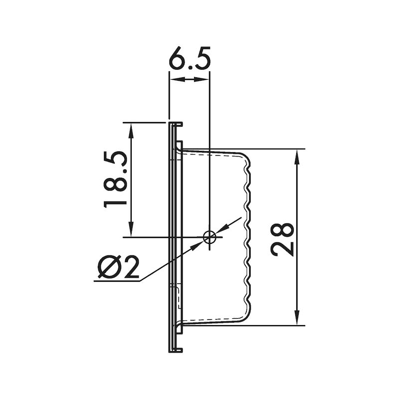 Muschelgriff rechteckig MUG-ST 1 - 3