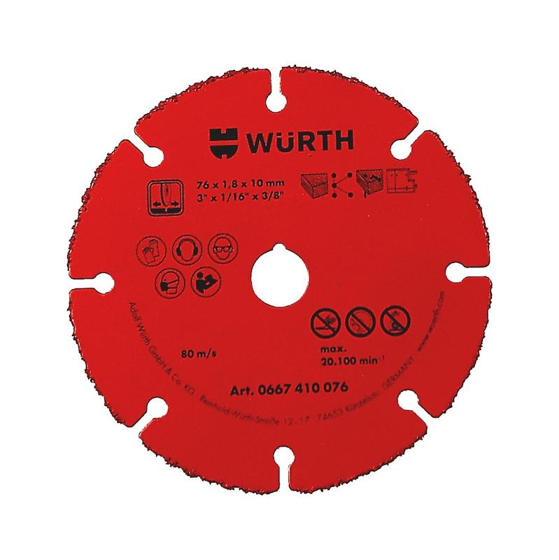 Doorslijpschijf met hardmetalen coating - DOORSLIJPSCHIJF-HM-1,8-BO10,0-D76MM