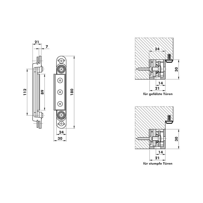 Aufnahmeelement OBX 1067-3D - 2