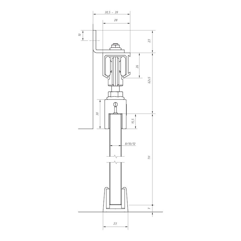 Zimmerschiebetürbeschlag-Set SCHIMOS 40-G - 2