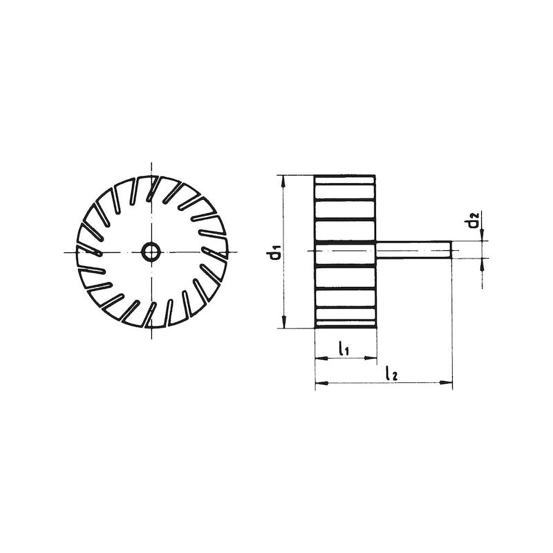 Schleifbandträger - SHLFBATRG-GU-45X30MM