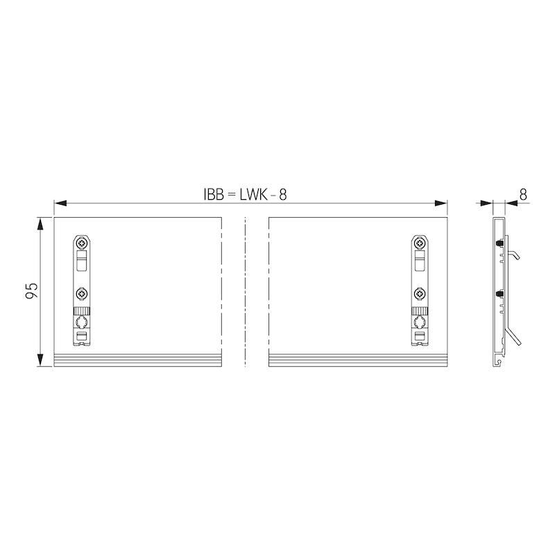 Innenblende F8 Nova Pro Scala - ZB-INNBLND-F8-SCALA-H186-ICE