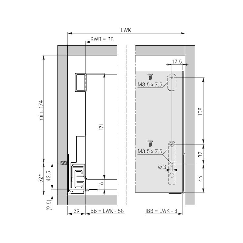 Innenblende F8 Nova Pro Scala - ZB-INNBLND-F8-SCALA-H186-SILVER