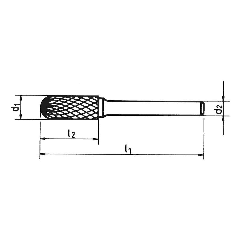 Fraise en carbure C, cylindrique, arrondie Denture croisée. - 2