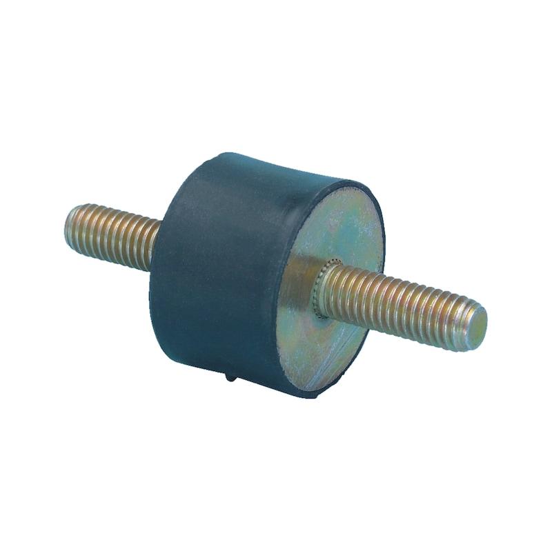 Gummi-Metall-Puffer Typ A - C2C - PUFF-GU/MET-A-30X20-M8
