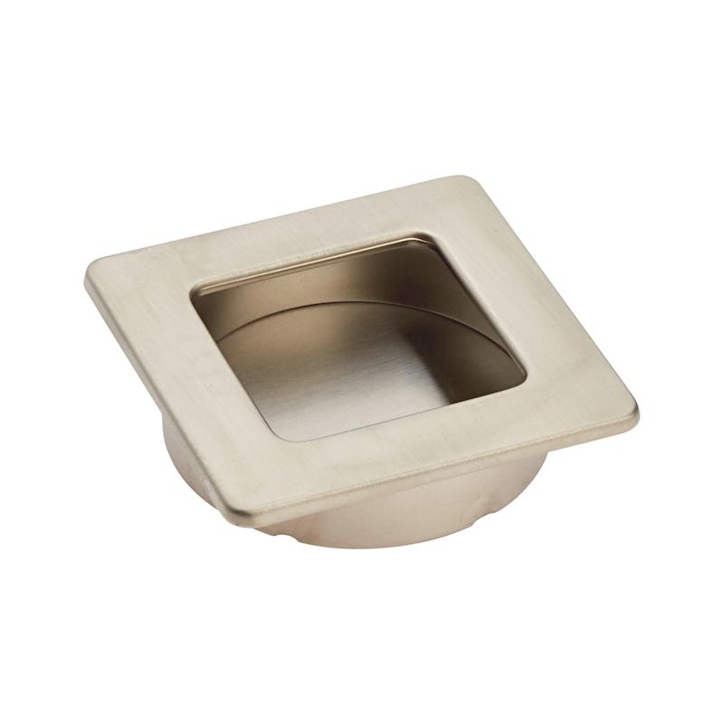 Square shell design handle - HNDL-ZD-SHELL-(NI)-MATT-ECKIG-D35MM