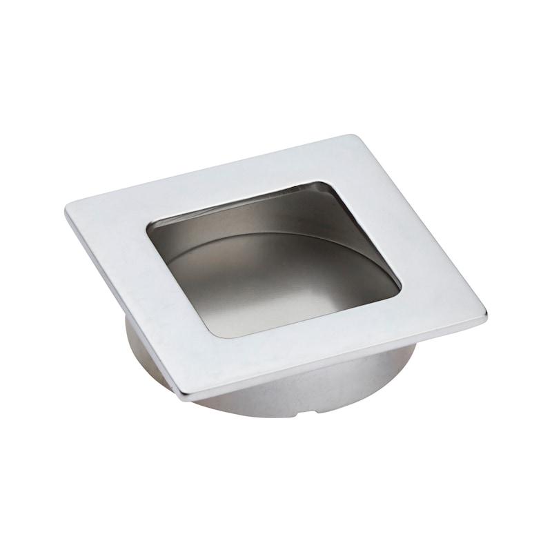 Square shell design handle - HNDL-ZD-SHELL-(CR)-MATT-ECKIG-D60MM
