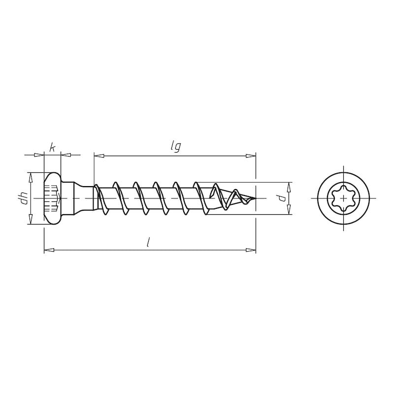 ASSY<SUP>®</SUP> 3.0  Balkenschuhschraube - SHR-PANHD-HO-BALKENSHH-AW20-(A3K)-5X40MM