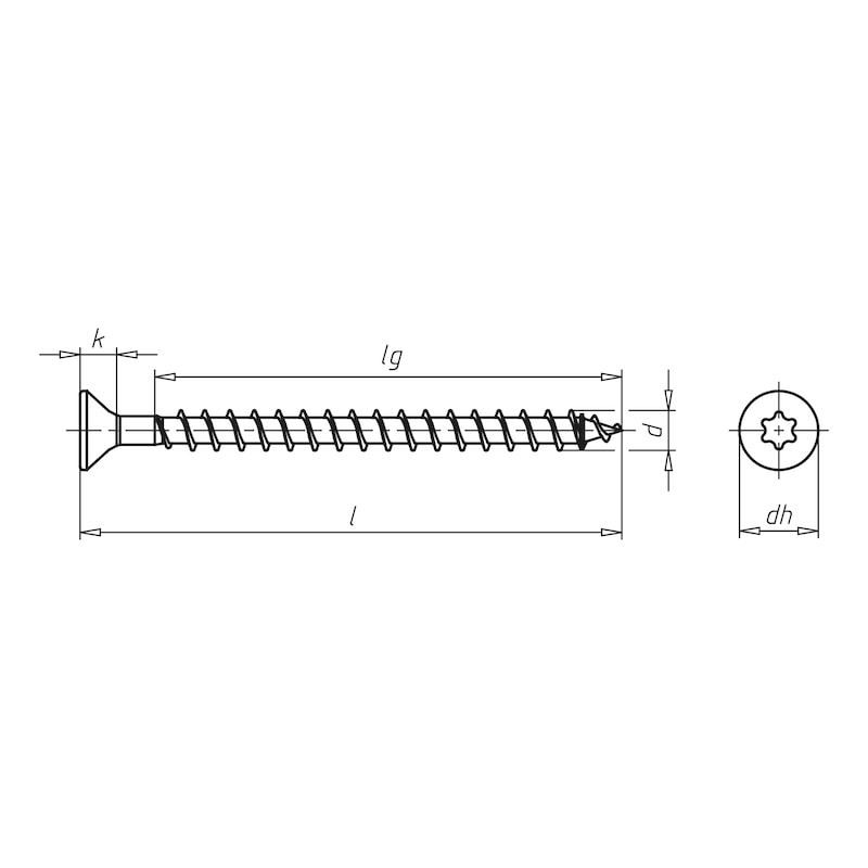 ASSY<SUP>®</SUP> 3.0, blue galvanised Particle board screw - SCR-CS-WO-AW20-(A2K)-4X35/29