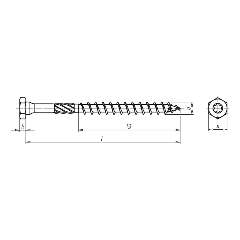 ASSY<SUP>®</SUP> 3.0 combi  Timber screw - SCR-WO-HEX-AW40-(A3K)-8X280/100