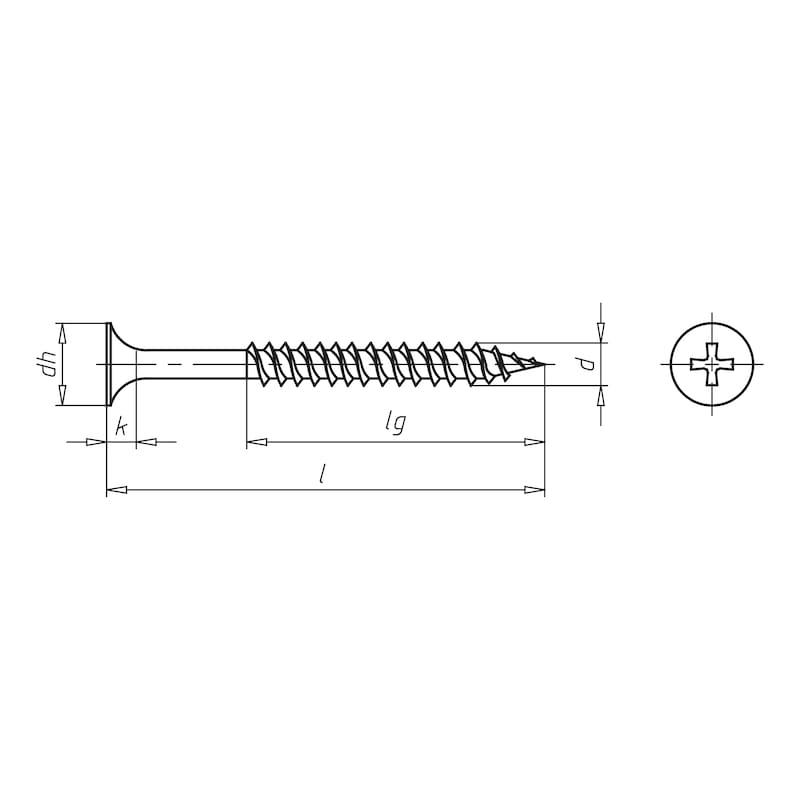 Schnellbauschraube mit Doppelganggewinde gegurtet - SHR-SNBAU-DPGWD-SEKPF-MG/HOHE-H2-3,9X25