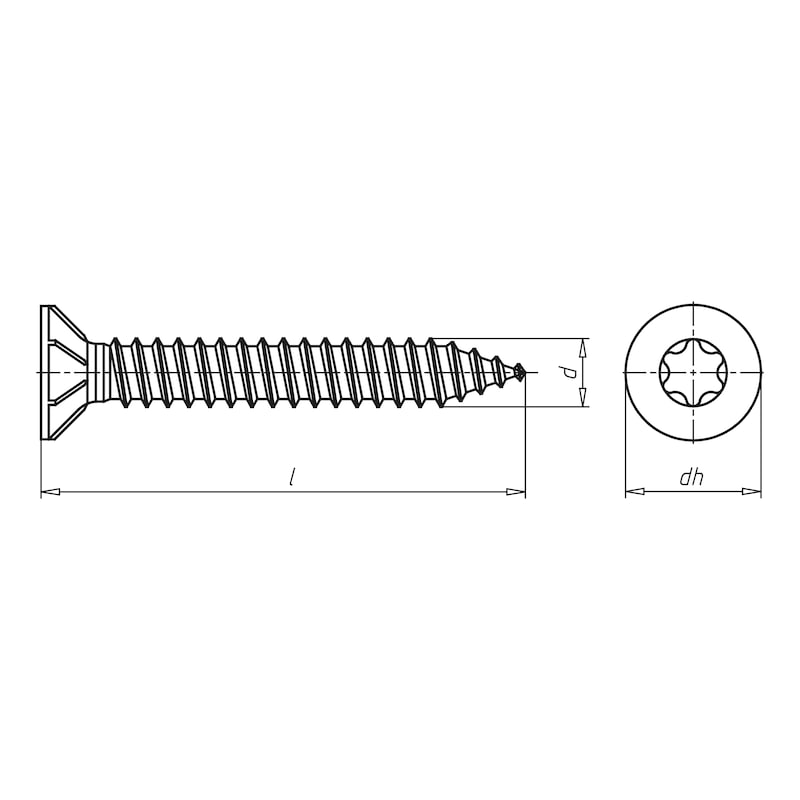 Amo<SUP>® </SUP>III spacing assembly screw Type 1 - 2