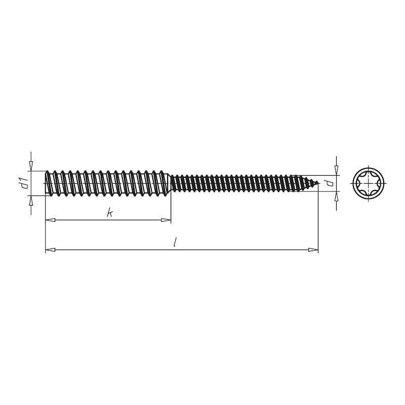 Abstandsmontageschraube AMO<SUP>®</SUP>-Combi 7,5/11,5 - 4