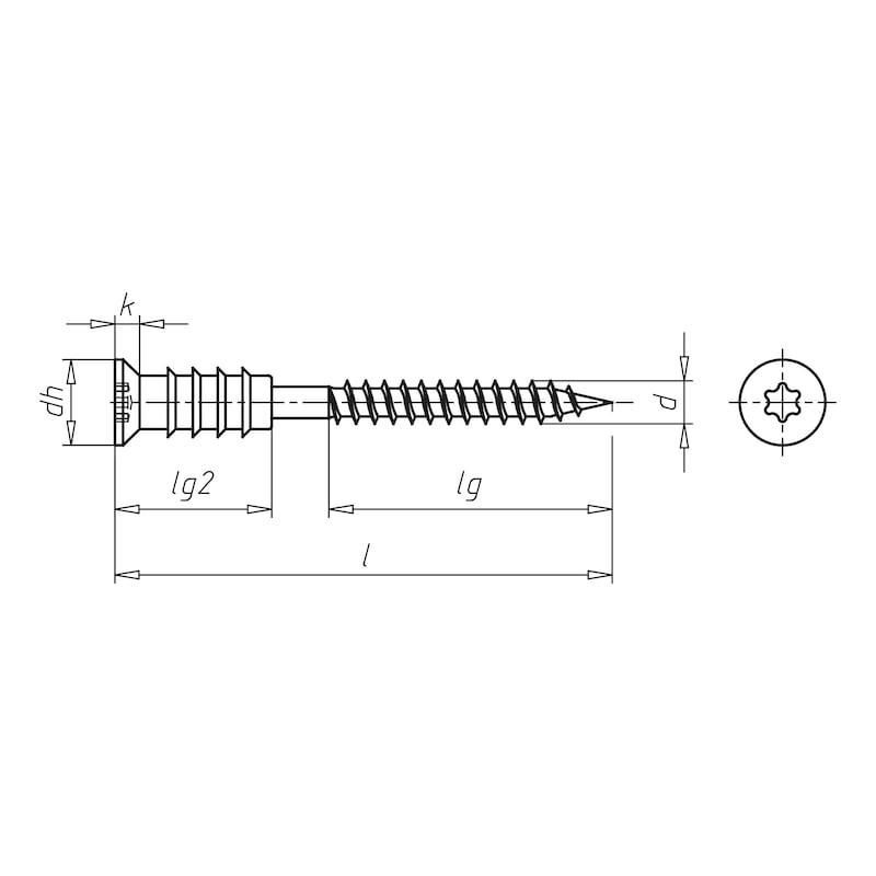 JAMO<SUP>®</SUP> Abstandsmontageschraube Holz-Beton Abstandsmontageschraube Holz-Beton - 2