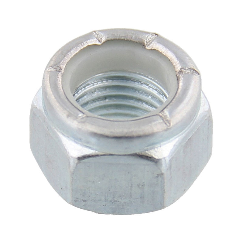 Hexagon nut, high profile with clamping piece (non-metal insert), imperial - 1
