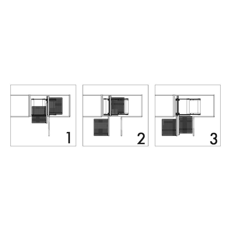 Eckschrank-Schiebebeschlag–Set VS COR FLEX - 4