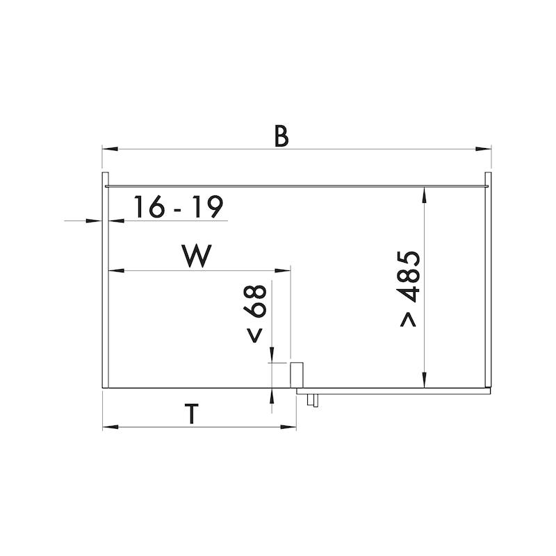 Eckschrank-Schiebebeschlag–Set VS COR FLEX - 3