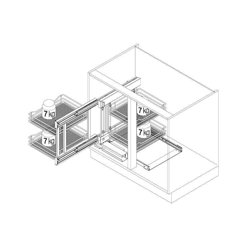 Eckschrank-Schiebebeschlag–Set VS COR FLEX - 2