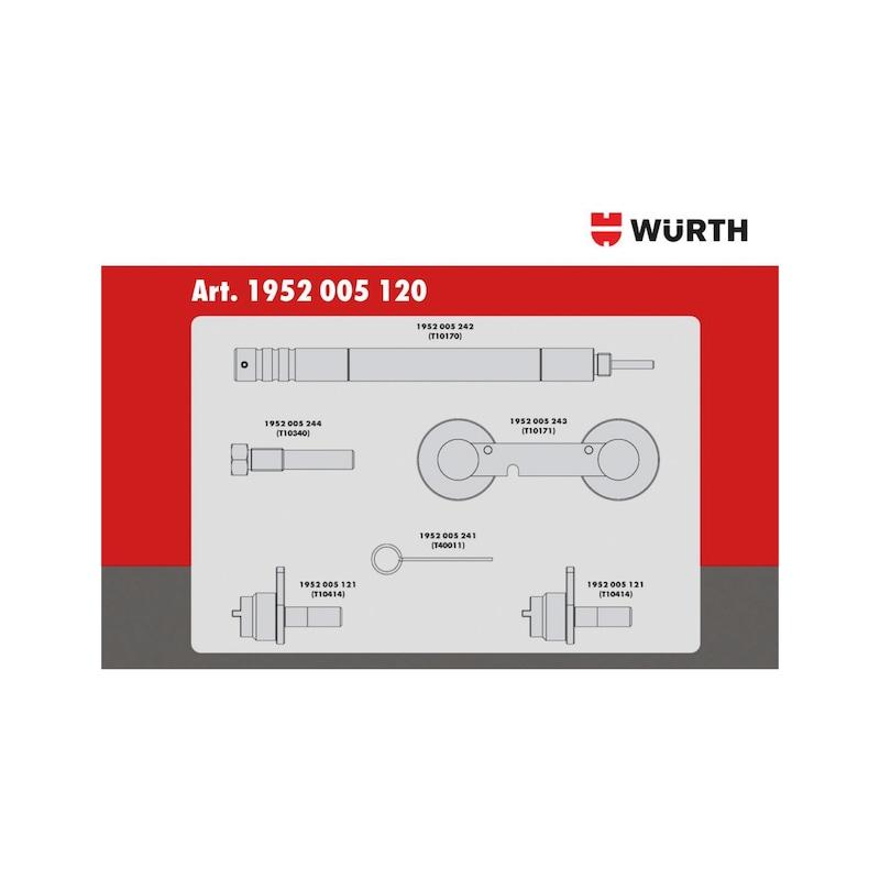Steuerzeiten-Werkzeug-Satz passend für VW-Gruppe 1.2 - 1.4 - 1.6, Benzin - 3