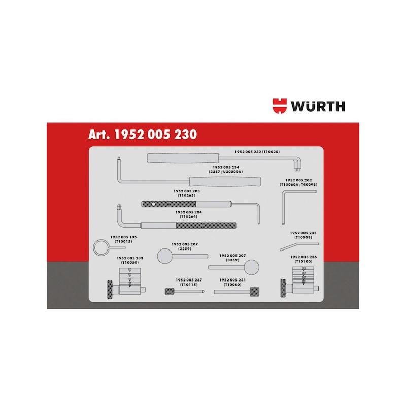 Conjunto de ferramentas de distribuição adequadas para VW 1.2 - 2.0 TDI CR, diesel - KIT DISTRIBUIÇÃO VW 1.2-2.0 DIESEL