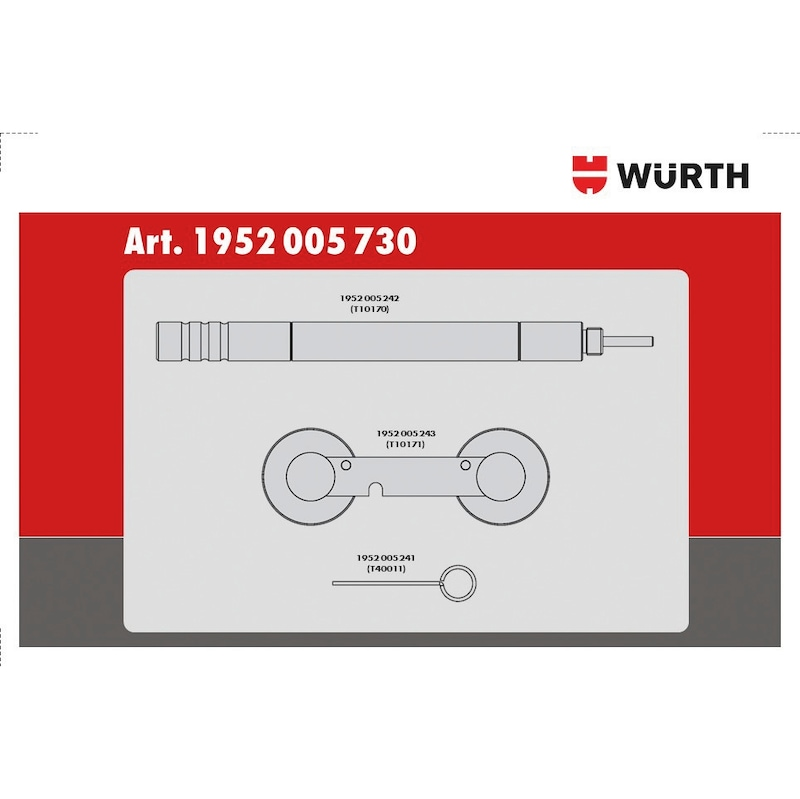Steuerzeiten-Werkzeug-Satz passend für VW Gruppe 1.4, Benzin - 3