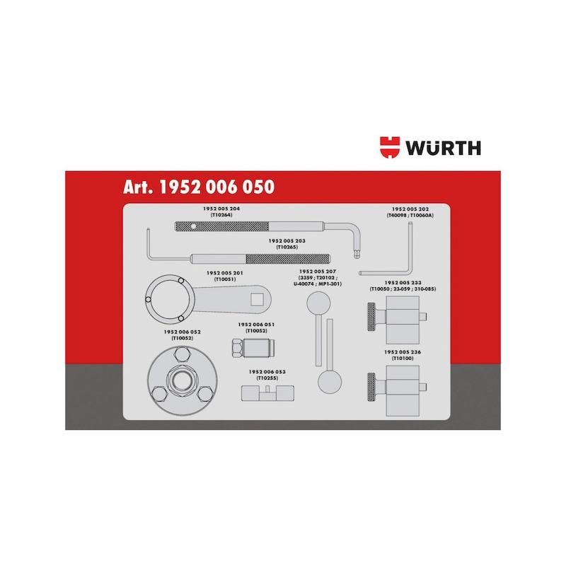 Steuerzeiten-Werkzeug-Satz passend für VW-Gruppe 1.2 - 1.6 - 2.0 TDI CR, Diesel - 3