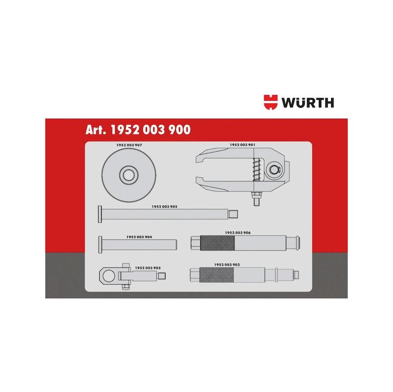 Gleithammer-Injektoren-Auszieher-Satz Delphi, Denso, Siemens, Bosch - 5