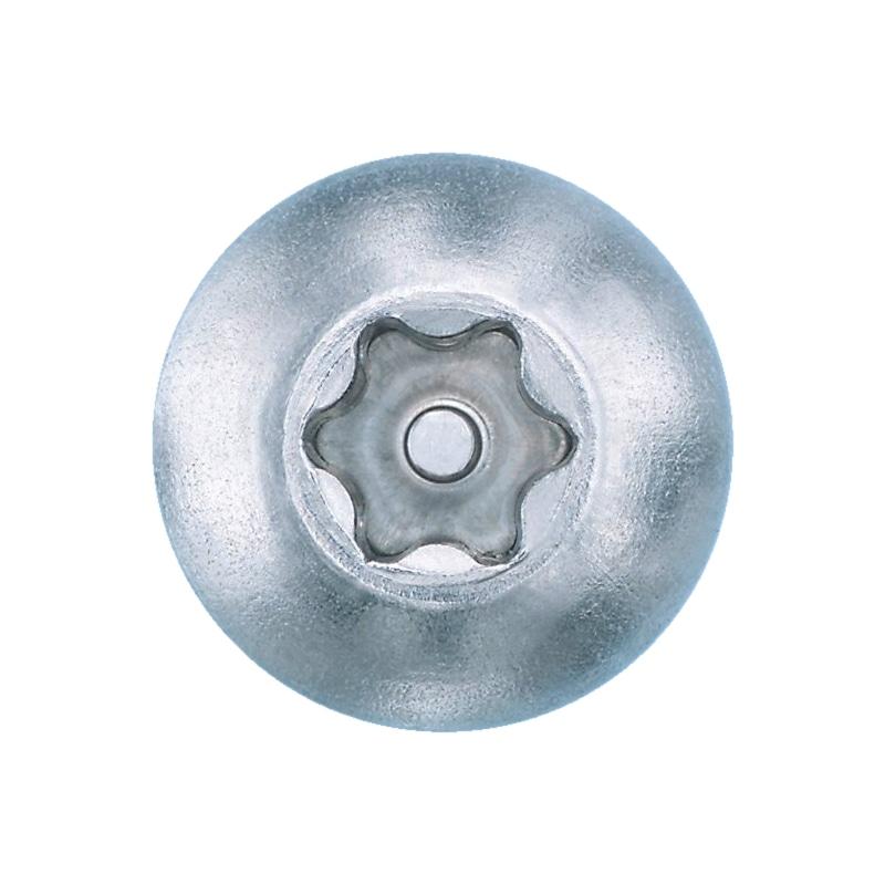 Linsen-Blechschraube mit Innensechsrund und Sicherungspin - 3