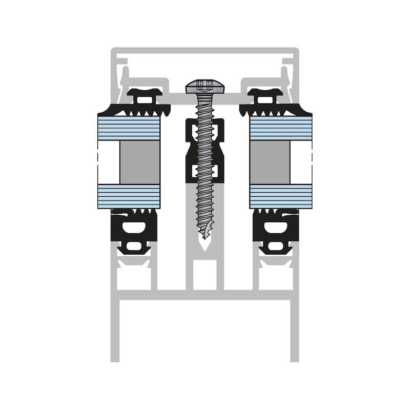 Linsen-Blechschraube Form C mit AW-Antrieb und Gleitbeschichtung - 5