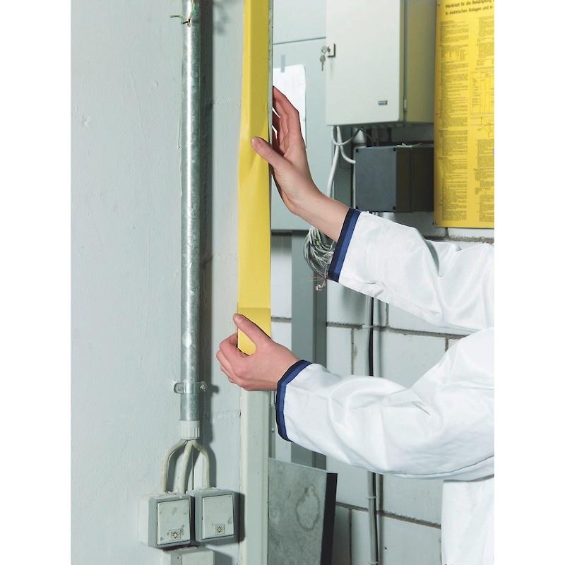 Ruban PVC strié jaune - ABDEBA-PUTZ-GELB-GERIPPT-50MMX33M
