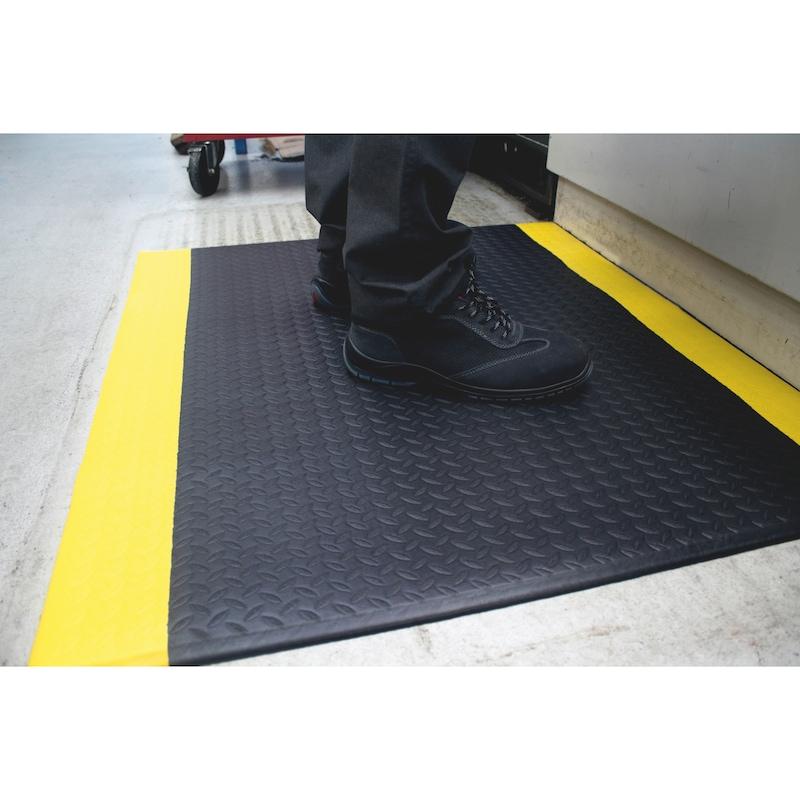 Anti-Ermüdungsmatte PVC Basic - BODMAT-PVC-BASIC-SCHWARZ/GELB-90X150CM