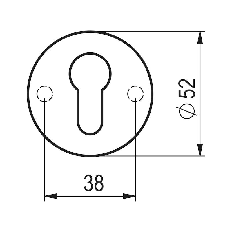 Türdrücker A 10 - TD-A2-A10-ROS-PZ-MATT