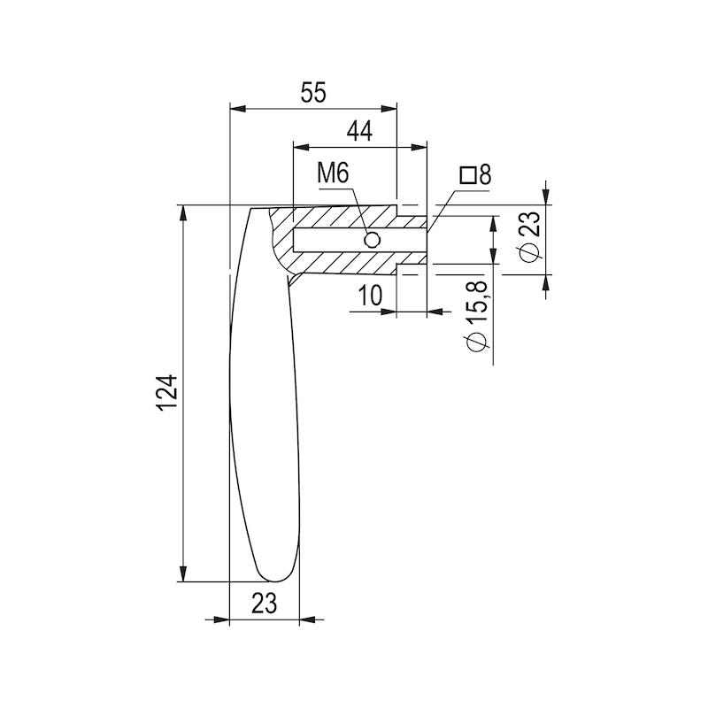 Türdrücker A 11 - TD-A2-A11-ROS-WC-MATT