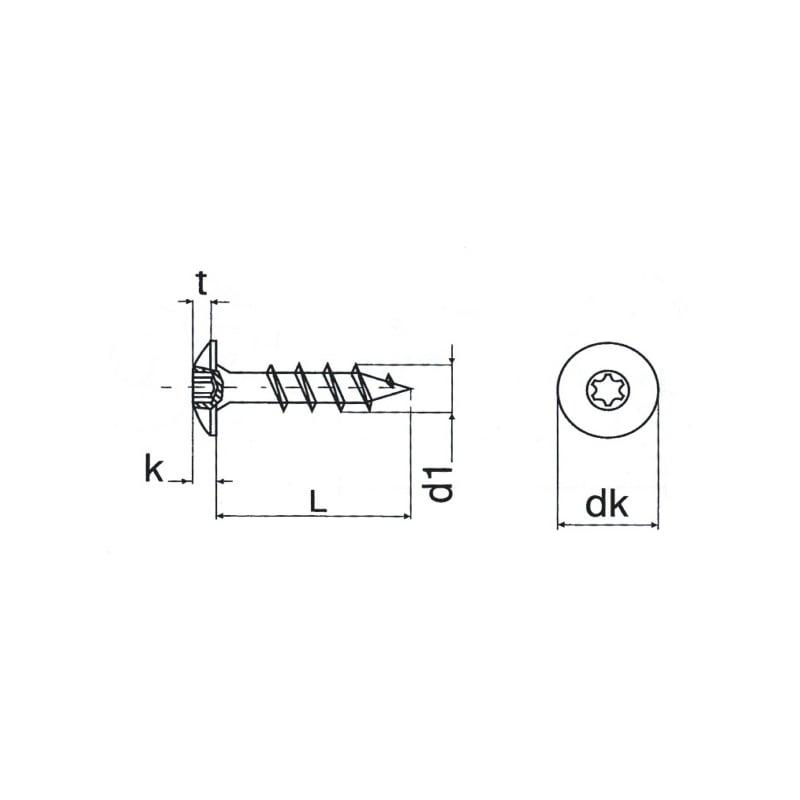 Vis de penture à tête cylindrique bombée large - 2